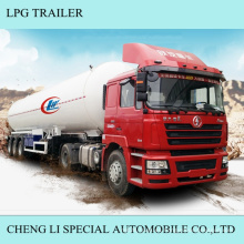 Tractor Trailer 3 Ejes LPG Gas Semi Trailer