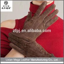 China Großhandel benutzerdefinierte Brown Leder Fahrhandschuhe