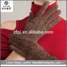 Gants de conduite en cuir marron personnalisés en Chine