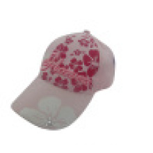 Baseball Cap with Floral Fabric Ks26
