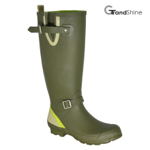 Wellington Rubber Rainboots with Adjustable Vamp Closure