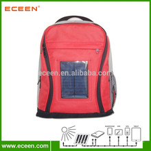 Solar backpack with long lifespan and good for outdoor sports