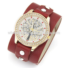 Relojes de cuero lindos de encargo baratos del reloj