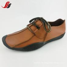 Neueste Männer Freizeit Leder Schuhe Handgefertigte Leder Schuhe (FF715-10)