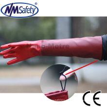 NMSAFETY guantes de trabajo de pesca a prueba de agua de pvc de manguito largo