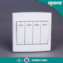 Igoto British Standard D3041 4 Gang 1 Way Switch