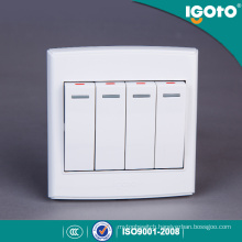 Igoto British Standard D3041 4 Gang 1 Way 86 Series Electrical Wall Switch