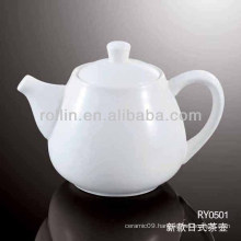 healthy durable japan style white porcelain oven safe tea kettle with lid