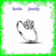 Мода большой блеск цветок форму 925 кольцо стерлингового серебра с кубическим цирконом ювелирные изделия Японии драгоценных камней