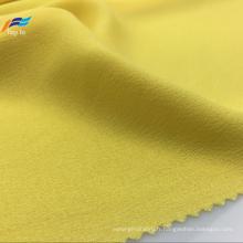 Tissu de robe de dames jaune teint en fil 100% polyester