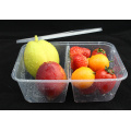 Disposable 2 Compartment Microwave Plastic Food Container for Food Take Away