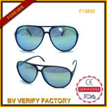 Unisex gafas de sol piloto con lentes polarizadas de Wenzhou (F15800)