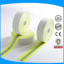 Fr светоотражающая лента 100% хлопок серебристый 2,5 см светоотражающая лента из Китая