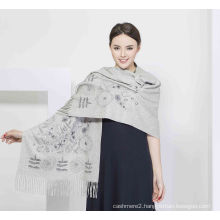 2017 Printed 100% Cashmere Women Scarf