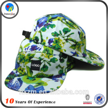 new printed logo 5 panel hat custom