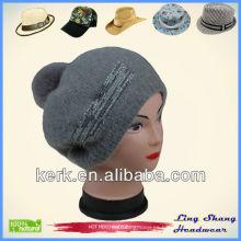 LSA52 Ningbo Lingshang Hign Calidad de fábrica Precio de invierno de tejer sombreros de snapback