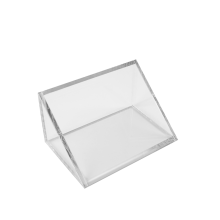 Wholesale Clear Triangle Acrylic Cut Card Holder