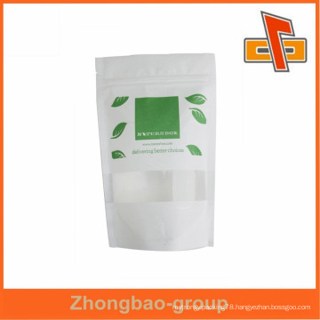 china pouch manufacturer sachet printing rice paper bag with zipper/window