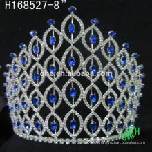 Nuevos diseños rhinestone real accesorios barato alto concurso corona una tiara