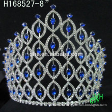 New designs rhinestone royal accessories cheap tall pageant crown a tiara