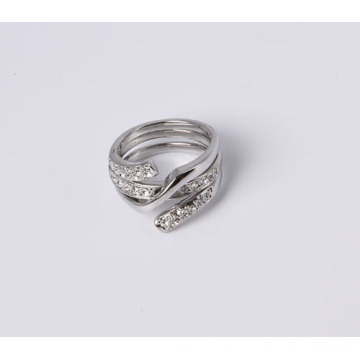 Fashion Design Jewelry Ring in Good Quality Rhodium Plated