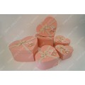 Pink wallpaper bow tie heart gift box