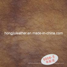 Couro especial do Sipi do teste padrão para a mobília (Hongjiu-608 #)