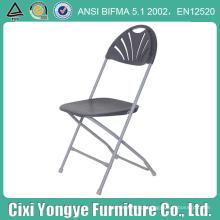 Cinzento Metal Frame plástico Foldng cadeira para casamentos