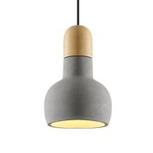 2020 decoration led kitchen cement hanging light restaurant concrete pendant lamp fixture