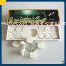 Vela perfumada de tealight de soja con soporte de vidrio