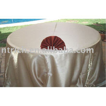 Plain satin table cloth for wedding and banquet