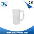 Haute qualité à bas prix 16oz Verre givré Bière Mug Sublimation Verre Tasse Heat Press Verre Tasse