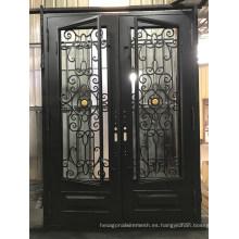Nuevo diseño claro precio puerta de hierro puerta de acero
