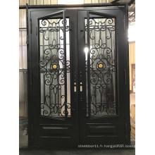 Nouveau design porte de fer porte en acier de prix clair