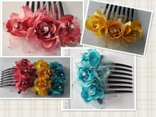 HF166 Comb hairpin handcraft flowers/decorative hairpins