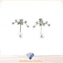 Boa qualidade e moda jóias 3A CZ 925 brinco de prata (E6540)