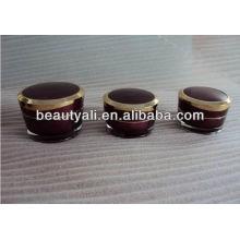 Oblíquo afilado cosméticos acrílico jar envase de cosméticos de embalaje