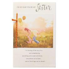 Mãe e filha de cartão de convite de festa de aniversário