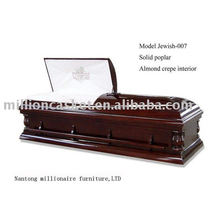 solid poplar American style jewish cremation coffin casket funeral supplies wholesales