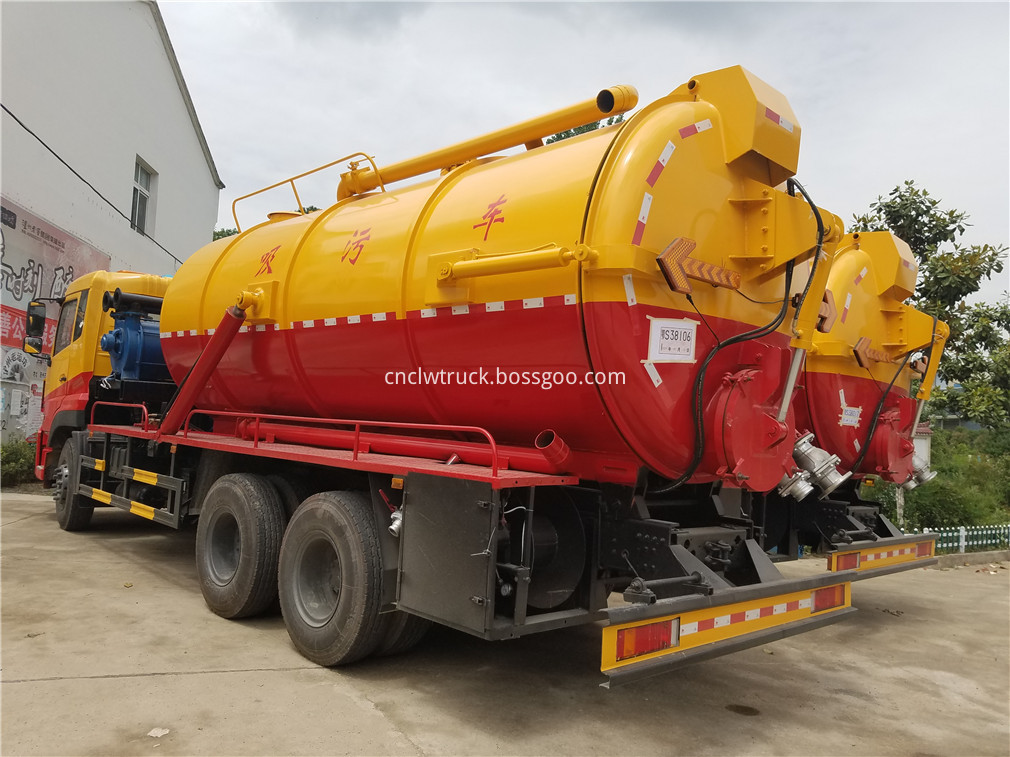 wasted water suction truck 4
