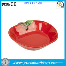 Wholesale Red Apple Fine Porcelain Fruit Plate