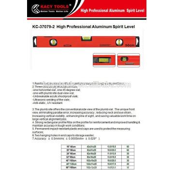 Nivel de alcohol magnético Líquido de aluminio Nivel de alcohol Nivel de agua Regla
