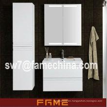 2013 muebles de Mdf del cuarto de baño del alto brillo del blanco