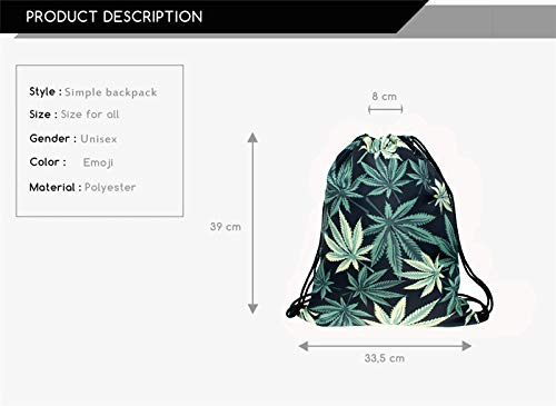 Green Leaf Drawstring Bag 2