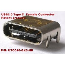 Conector USB2.0-C 16 pinos SMD
