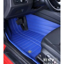 Carpet Mat 3D with Leatherette 5-Layer in Strips Embroidery
