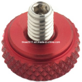 Red Anodized Aluminum Diamond Knurled Camera Thumb Screw Nut