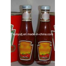 Sauce tomate dans un pot en verre
