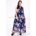 2017 Гуанчжоу Оптовые Женщин Вечернее Платье Плюс Размер Шифон Длинное Платье