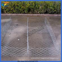 Galvanized Gabion Wire Mesh, Hexagonal Gabion Box